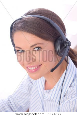 Woman In Call Center