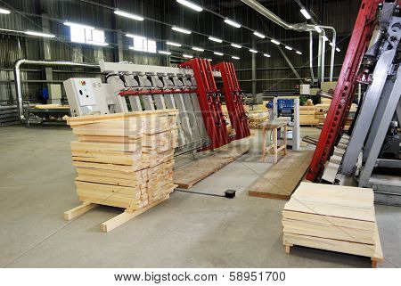 Making Of Wooden Windows In The Factory
