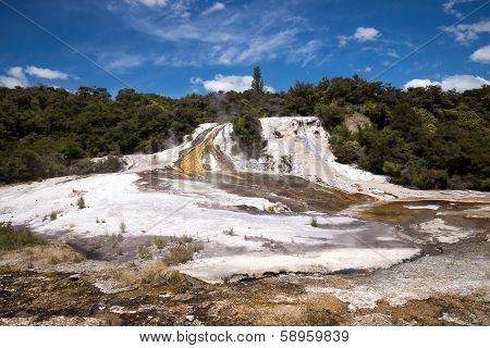 Orakei Korako Geothermal Park In New Zealand