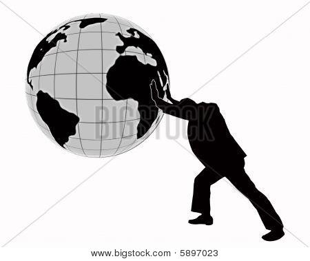Man Turns The World