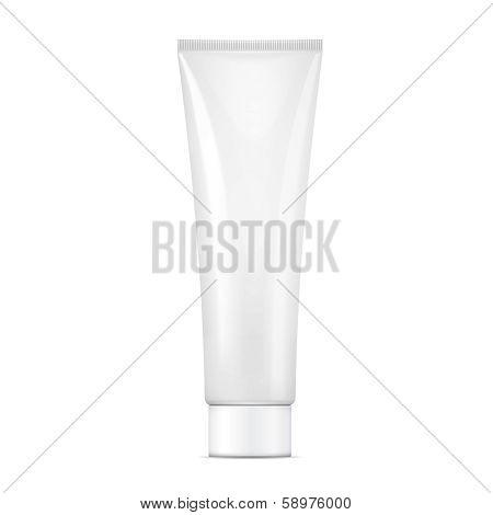 White cream tube mock-up.
