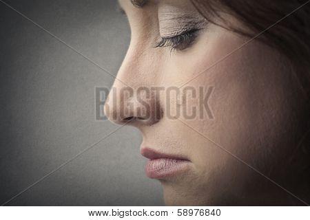 tearing girl