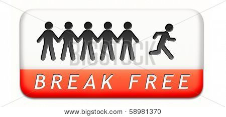 break free from prison pressure or quit job running away towards stress free world