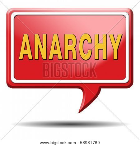 anarchy anarchism anarchist wants revolution is a political philosophy poster