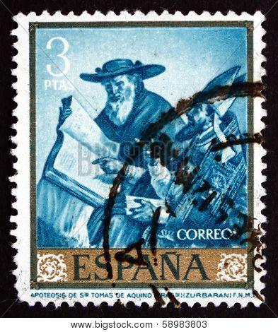 Postage Stamp Spain 1962 Apotheosis Of St. Thomas Aquinas