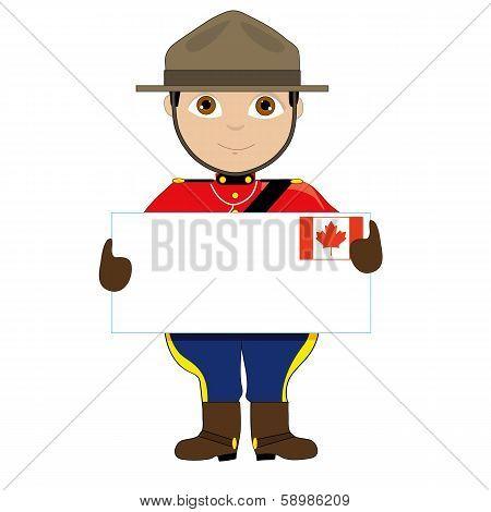 Canada Sign Boy