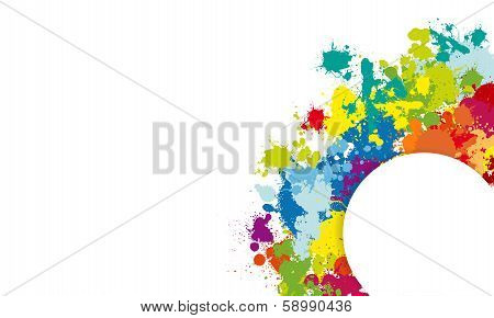 Colorful Splash Background With Place For Text vector illustration poster