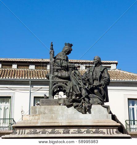 Isabela I with Christopher Columbus, Granada