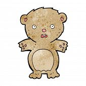 frightened teddy bear cartoon poster