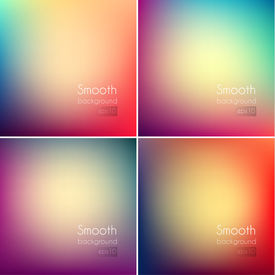 Smooth abstract colorful backgrounds set - eps10