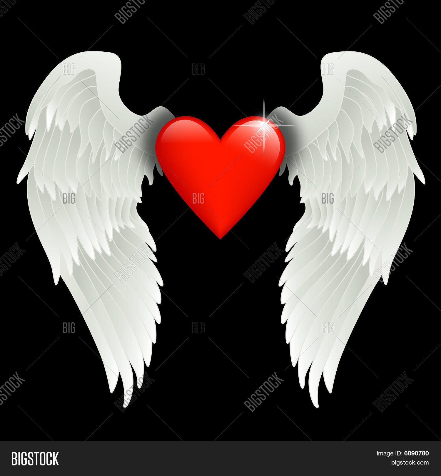 Heart Angel Wings Image Photo Free Trial Bigstock