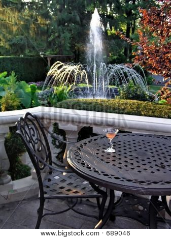 Table And Fountain