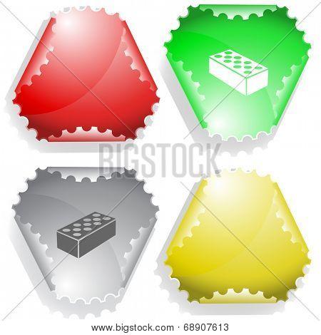 Hollow brick. Raster sticker.