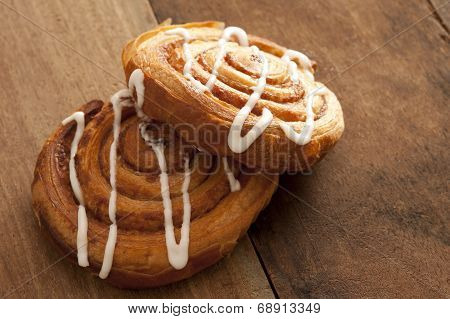 Two Delicious Freshly Baked Danish Pastries