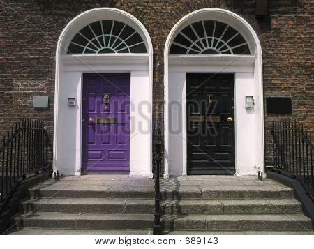Purple & Black Georgian Doors
