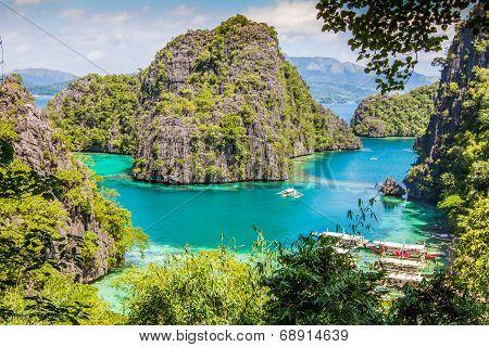 Blue Lagoon in Palawan Philippines