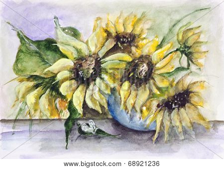 Green Sunflowers