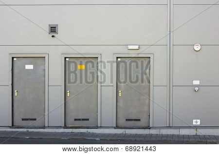 Three Armor Doors