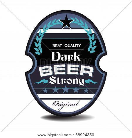 Dark beer label