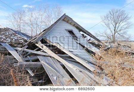demolished farm house