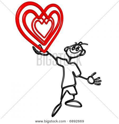 Doodle GuyZ Happy Valentines Day Heart