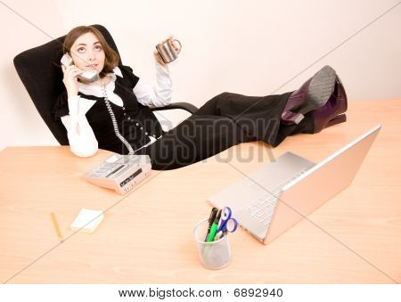 Young Businesswoman Talking On Phone