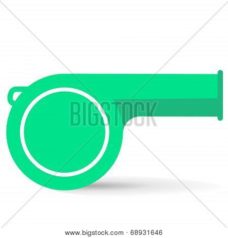 Lime Whistle On A White Background