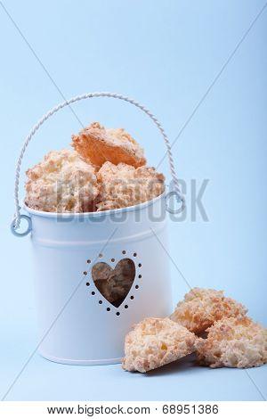 Coconut Cookies In Bucket
