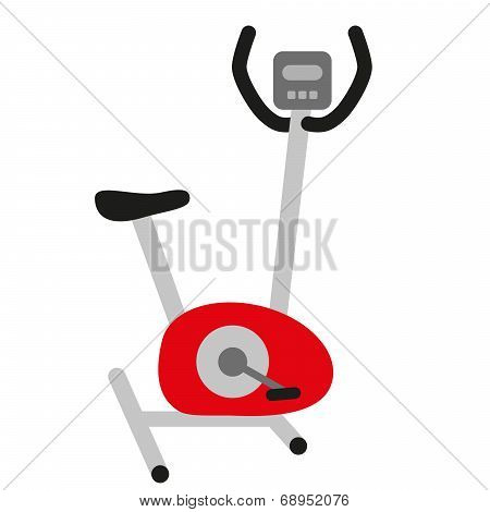 Red Hometrainer Stationary Bicycle