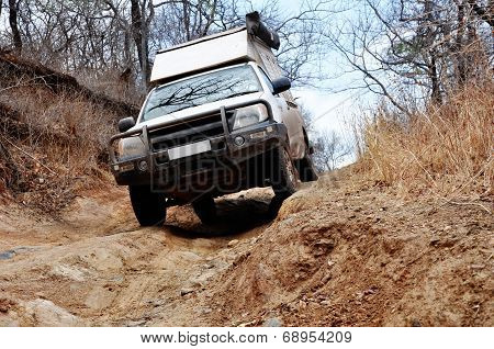Off-Road Driving in Rural, Mountainous Areas of Zambia, Africa poster