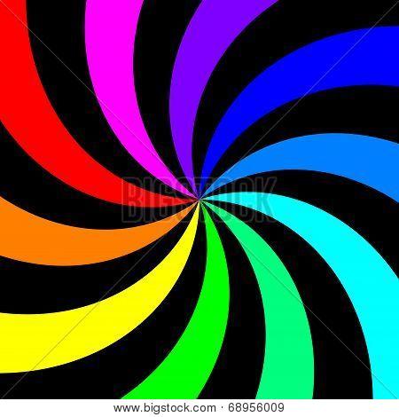 Rainbow Spectral Swirl