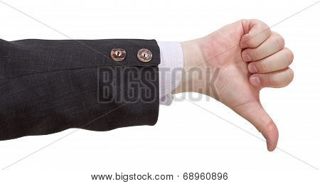 thumbs-down - hand gesture isolated on white background poster