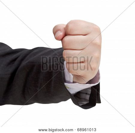 Front View Of Clenched Fist - Hand Gesture