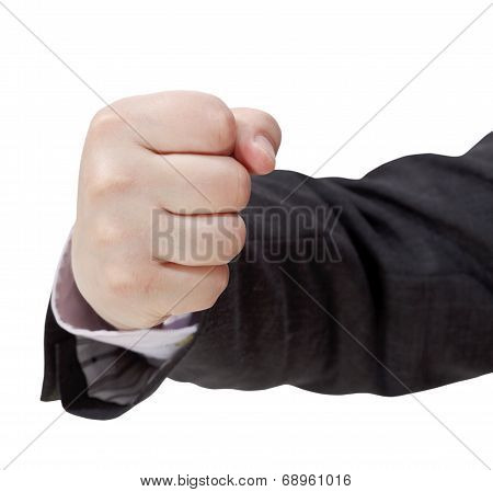 Front View Of Fist - Hand Gesture