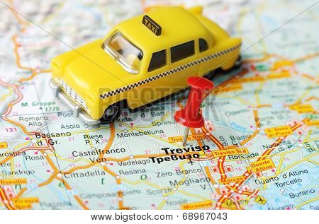 Treviso  Italy Map Taxi