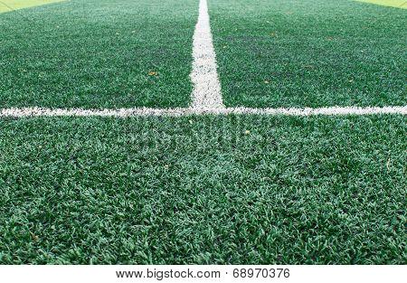 White Sideline On Football Field