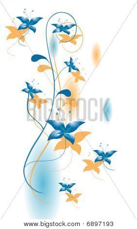 Flower decoration for the design