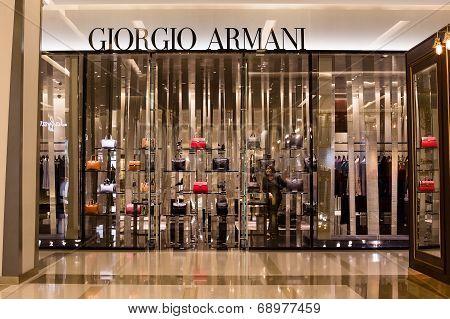 Front View Of Giorgio Armani Store In Siam Paragon Mall, Bangkok