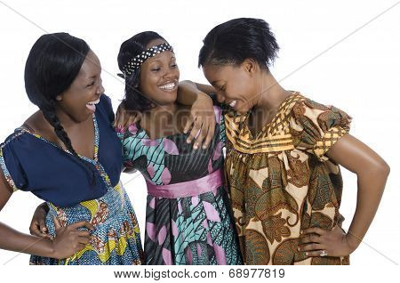 Three African Womwn In Traditional Clothing