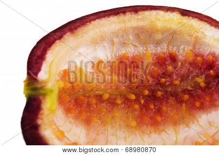 Empty Passion fruit isolated on white background