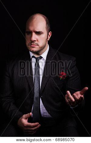 Portrait Of Man, Godfather-like Character.