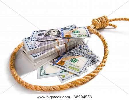 money in a noose