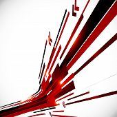 Abstract red and black shining lines vector background poster
