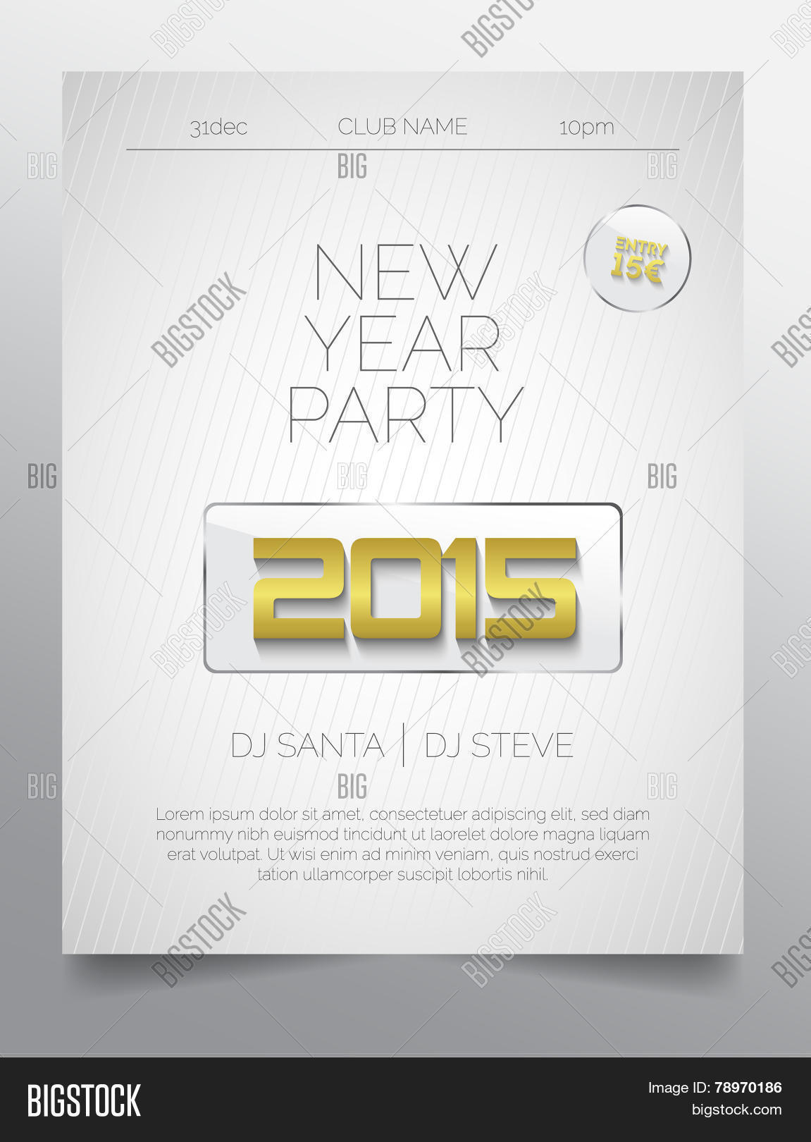 New Year Party Flyer Vector & Photo (Free Trial) | Bigstock