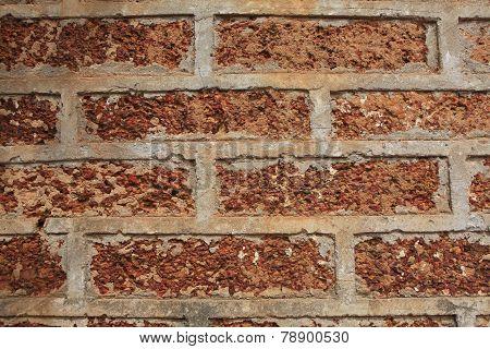Laterite brick background