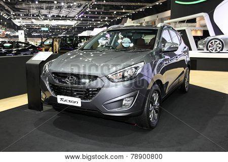 Bangkok - November 28: Hyundai Tucson Car On Display At The Motor Expo 2014 On November 28, 2014 In