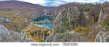 Plitvice Lakes Canyon Panoramic View