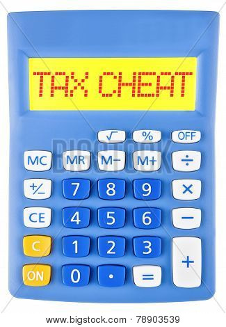 Calculator With Tax Cheat On Display