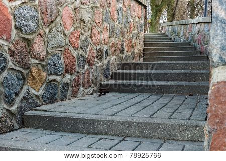 Tortuous Ascent Of The Stone Steps