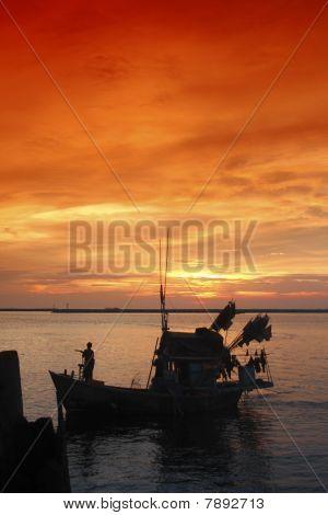 Fishing boat thai